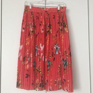 Liz Claiborne Pleated Floral Skirt